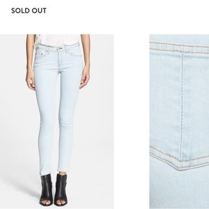 "Rag & bone ""the skinny"" low rise jeans"